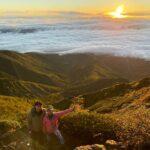 赤岳からの美しい朝日